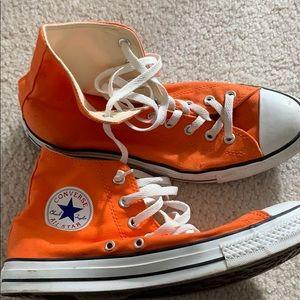 Orange converse all star chuck Taylor